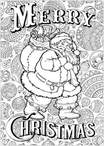 Merry Christmas Coloring Pages Adults
