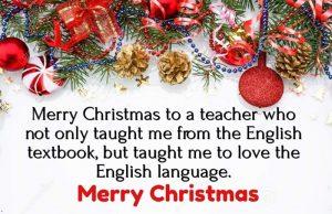 Christmas Messages for Teacher
