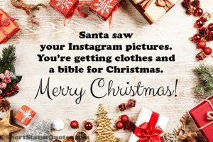 Funny Merry Christmas Captions