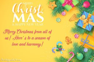 Merry Christmas and New Year Greetings