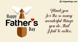 Happy Fathers Day Greetings Messages