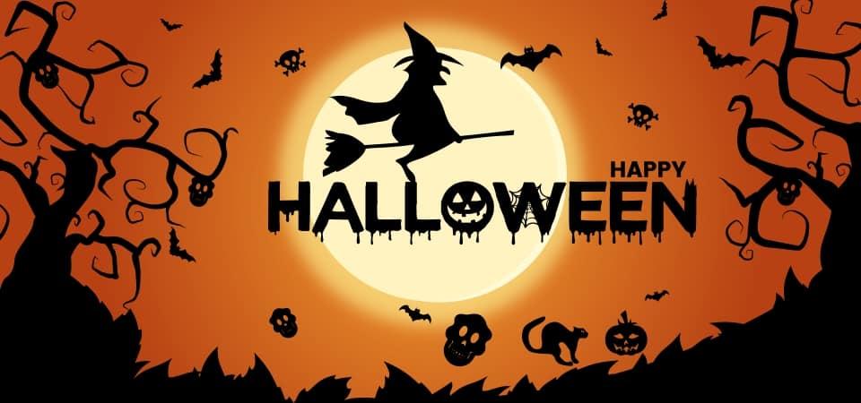 Happy Halloween Creepy Night Background Image