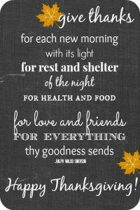 Inspirational Happy Thanksgiving Quotes
